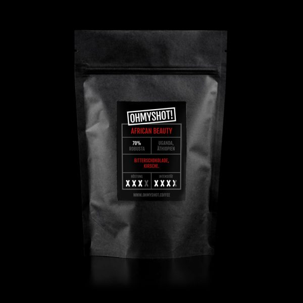 ohmyshot Afrivan Beauty Espresso Verpackung